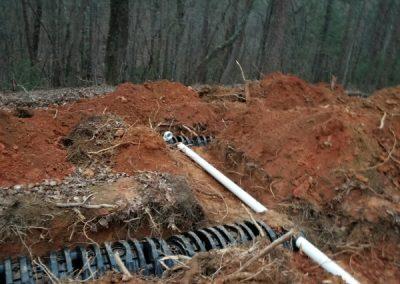 Digging a drain line
