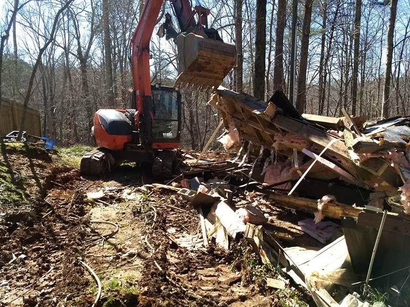 Demolition in Blairsville